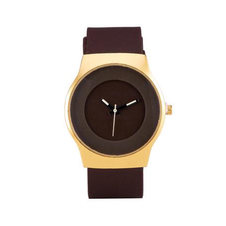 Quartz Horloge - Bruin & Goud