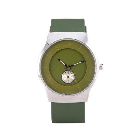 Quartz Horloge - Groen & Zilver