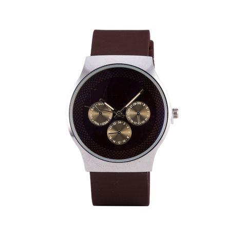 Quartz Watch - Brown & Silver