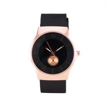 Quartz Horloge - Zwart & Rosé
