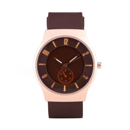 Quartz Watch - Brown & Rosé