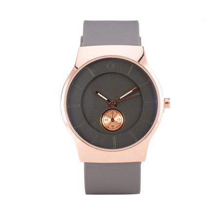 Quartz Watch - Grijs & Rosé