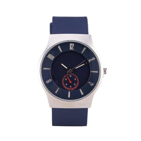 Quartz Horloge - Blauw & Zilver