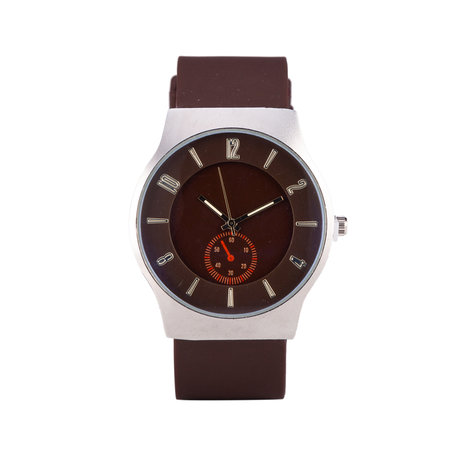 Quartz Horloge - Brown & Zilver
