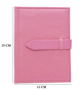 Luxury Jewelery folder for earrings - 4 Pages - Pink Shimmering