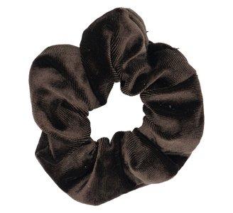 Velvet Scrunchie Donker Bruin