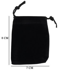 Velvet Organza zakjes 7x8 cm Pak van 50 Stuks - Zwart