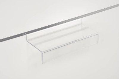Transparant Display Lamellen wand - Slatwall Houder - Recht - (25x13,5cm)