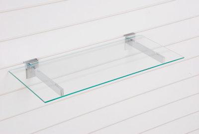 Legbord van gehard glas 1200X300X6MM - Transparant