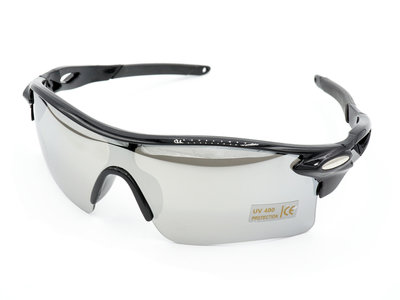Snelle Planga - Snelle Jelle Bikers Zonnebril - Zwart & Zilver