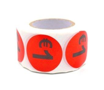 Prijs/Korting 1 euro stickers 500 stk - Dia: 2cm