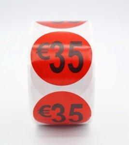 Prijs/Korting 35 euro stickers 500 stk - Dia: 2cm