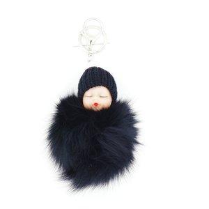 Baby Sleutel/Tas hanger Zwart 17 cm