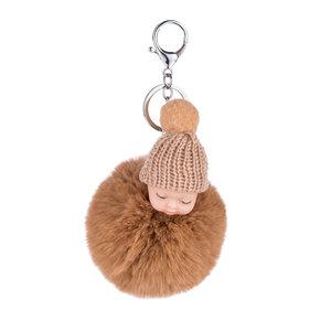 Baby Sleutel/Tas hanger Bruin