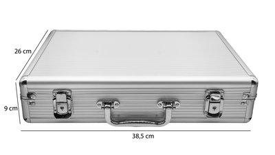 Aluminium koffer met Handvat voor Armbanden & Horloges 24 Vakken