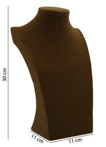 Display Hals Bruin Fluweel 30 cm hoog