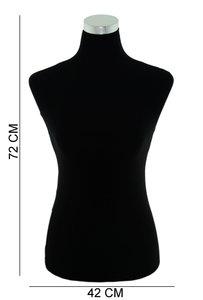 Luxe Mannequin Display Torso Velvet Zwart - Vrouw