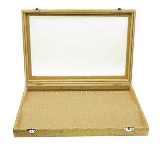Armbanden/Horloge/ketting Koffer Bamboe-Look