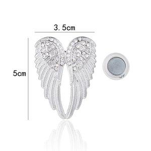 Magneet Broche Engelen Vleugels - Zilver