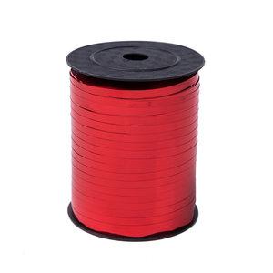 1 x Krullint 5 mm x 500 mtr., Kleur Rood Glans