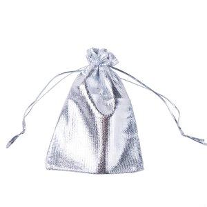 Organza Zakjes Metallic Silver 9x12 cm Pak van 50 Stuks