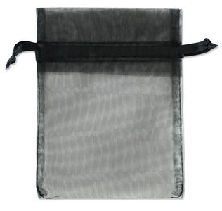 Organza zakjes Zwart Kleur 15x20 cm Pak van 50 Stuks