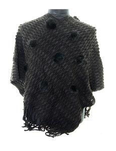 Zwart poncho