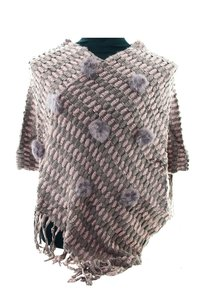 Rose & Paars poncho