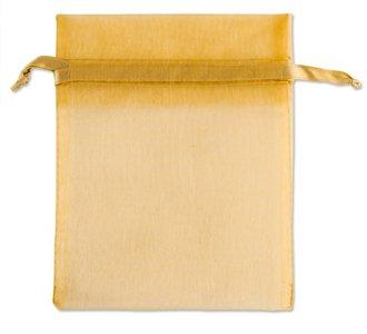 Organza zakjes Goud 18x15 cm Pak van 100 Stuks
