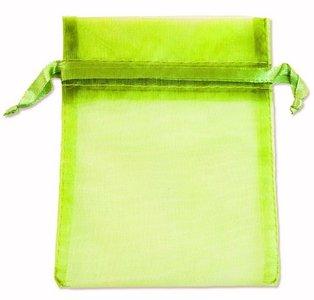 Organza zakjes Fluo Groen 16x10 cm Pak van 100 Stuks