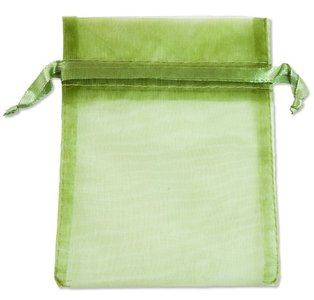Organza zakjes Groen 16x10 cm Pak van 100 Stuks