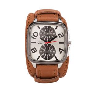 Leren Horloge - Dikke Band - 5cm Breed - Bruin