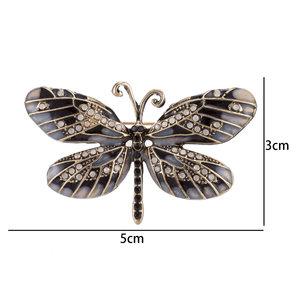 Vlinder Speld-Broche met Zirkonia - Zilver & Goud