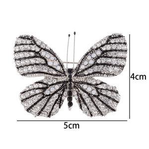 Vlinder Speld-Broche met Transparante Zirkonia