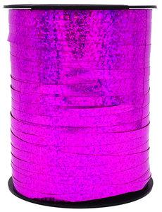 1 x Metallic krullint 5 mm x 500 mtr. Kleur Paars - Glitter