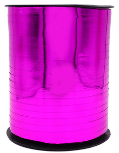 1 x Metallic krullint 5 mm x 500 mtr. Kleur Roze