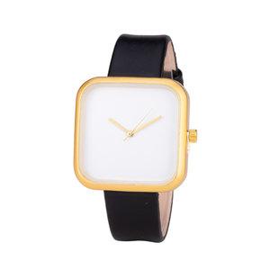 Leren Dames Horloge - Vierkant - Zwart