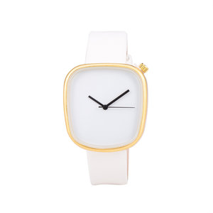 Leren Dames Horloge - Vierkant - Wit