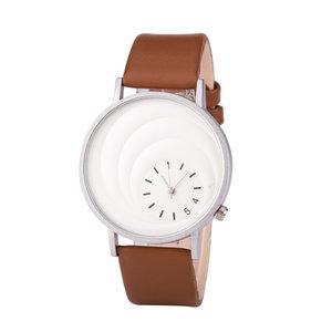 Leren Dames Horloge - Bruin & Zilver