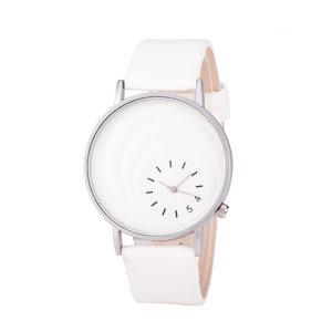Leren Dames Horloge - Wit & Zilver