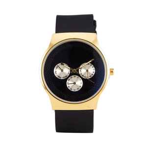 Quartz Watch (35mm) - Black & Gold