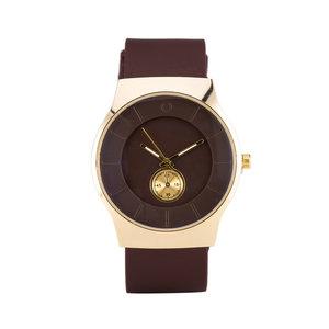 Quartz Horloge (35mm) - Bruin & Goud