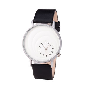Leren Dames Horloge - Zwart & Zilver