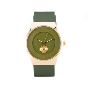 Quartz Watch - Groen & Rosé
