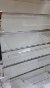 Transparant Display Lamellen wand - Slatwall Houder - Schuin - (24x12cm)
